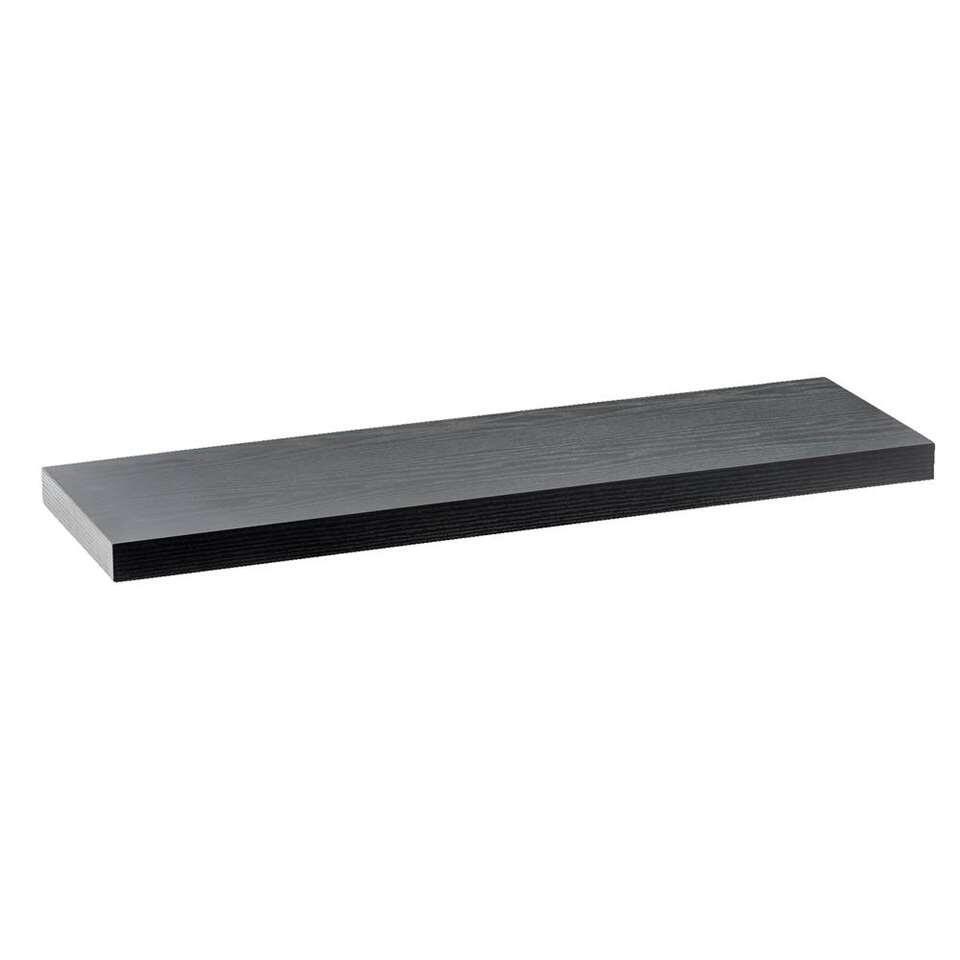 Wandplank Duraline XL - zwart - 80x23,5 cm