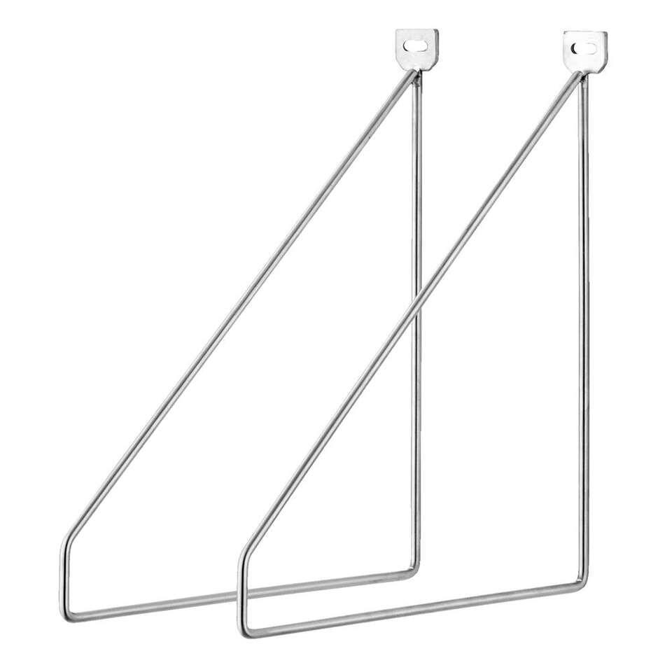 Plankdrager Duraline - zilverkleur - 2 stuks