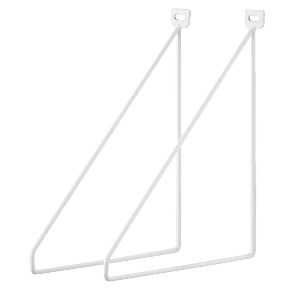 Plankdrager Duraline - wit - 2 stuks
