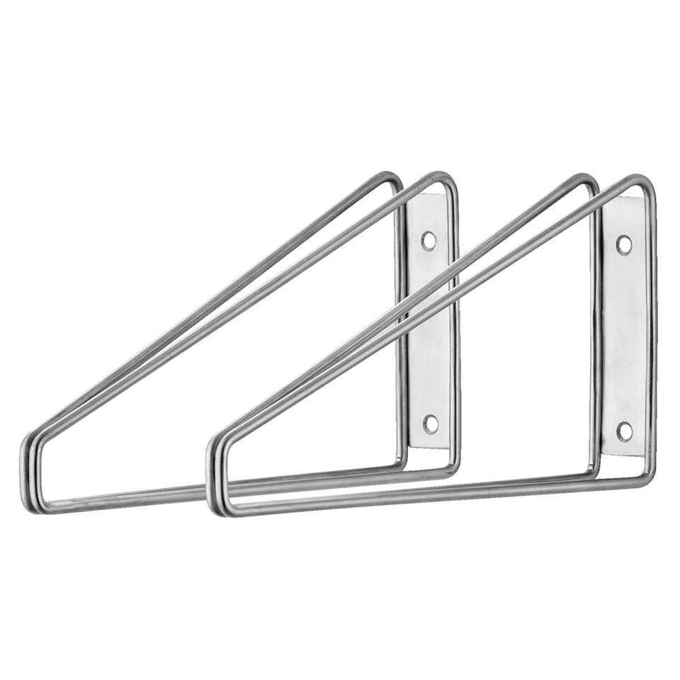 Plankdrager Duraline double low - rvs - 2 stuks