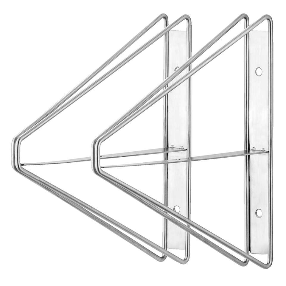 Plankdrager double high - rvs - 2 stuks