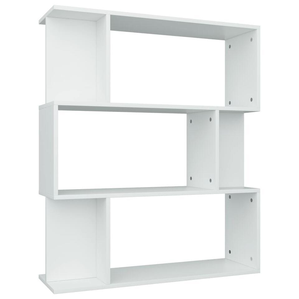 VIDAXL - Boekenkast/kamerscherm - 80x24x96 cm - spaanplaat - wit