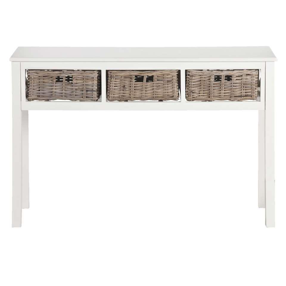 Witte Sidetable Leenbakker.Kaptafel Baroque Wit 80x100x40 Cm
