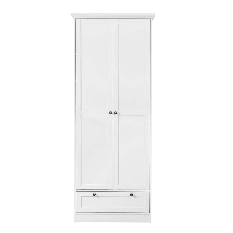 Kast Vera 2-deurs - wit - 200x80x39 cm - Leen Bakker