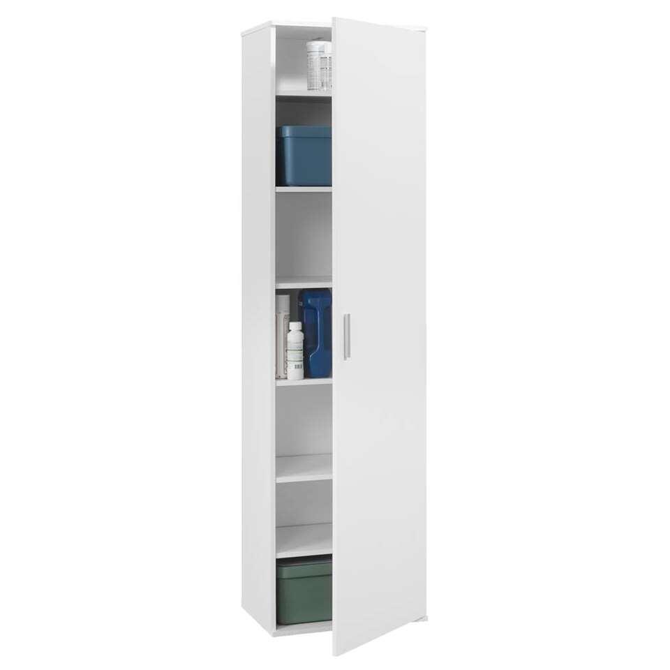 Kast inca 1 deurs wit 184x50x34 5 cm for Kledingkasten outlet