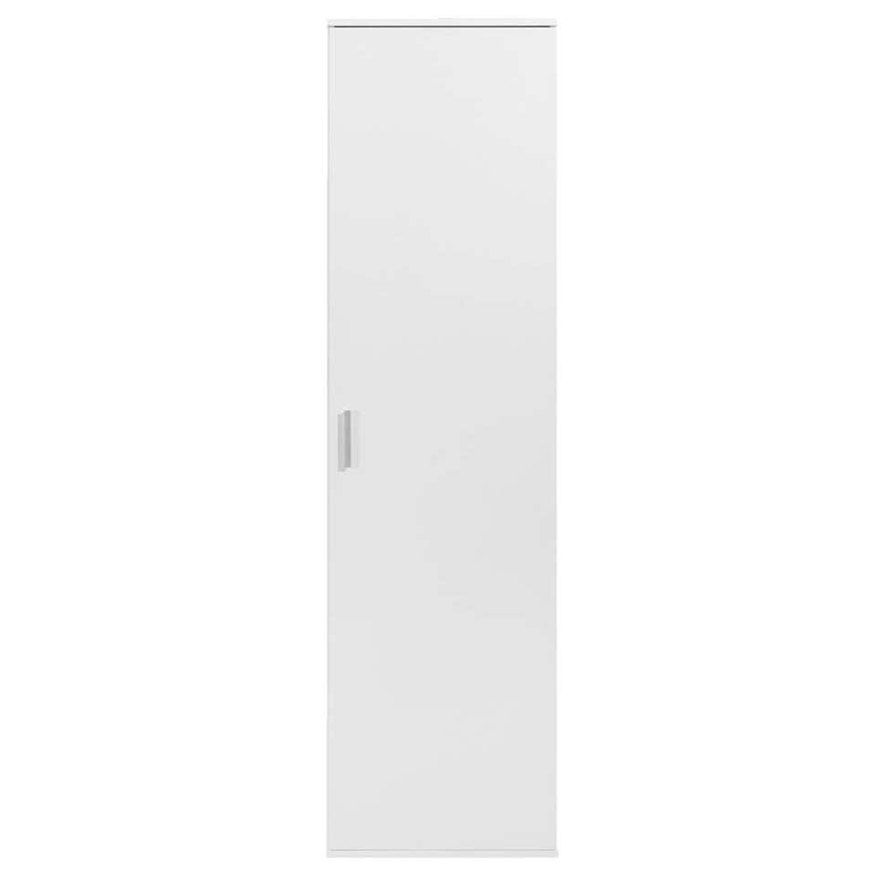 Kast Inca 1-deurs - wit - 184x50x34,5 cm - Leen Bakker