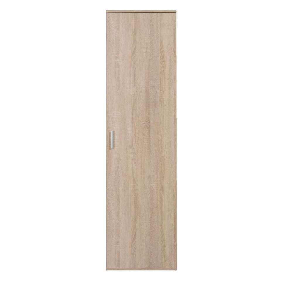 Kast Inca 1-deurs - eikenkleur - 184x50x34,5 cm - Leen Bakker