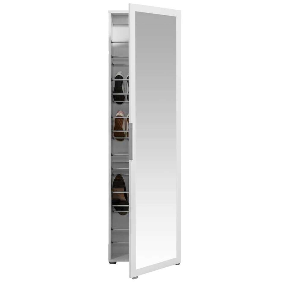 Schoenenkast Rijssel - wit - 172,5x50x20 cm - Leen Bakker