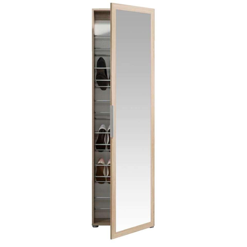 Armoire à chaussures Rijssel - couleur chêne - 172,5x50x20 cm