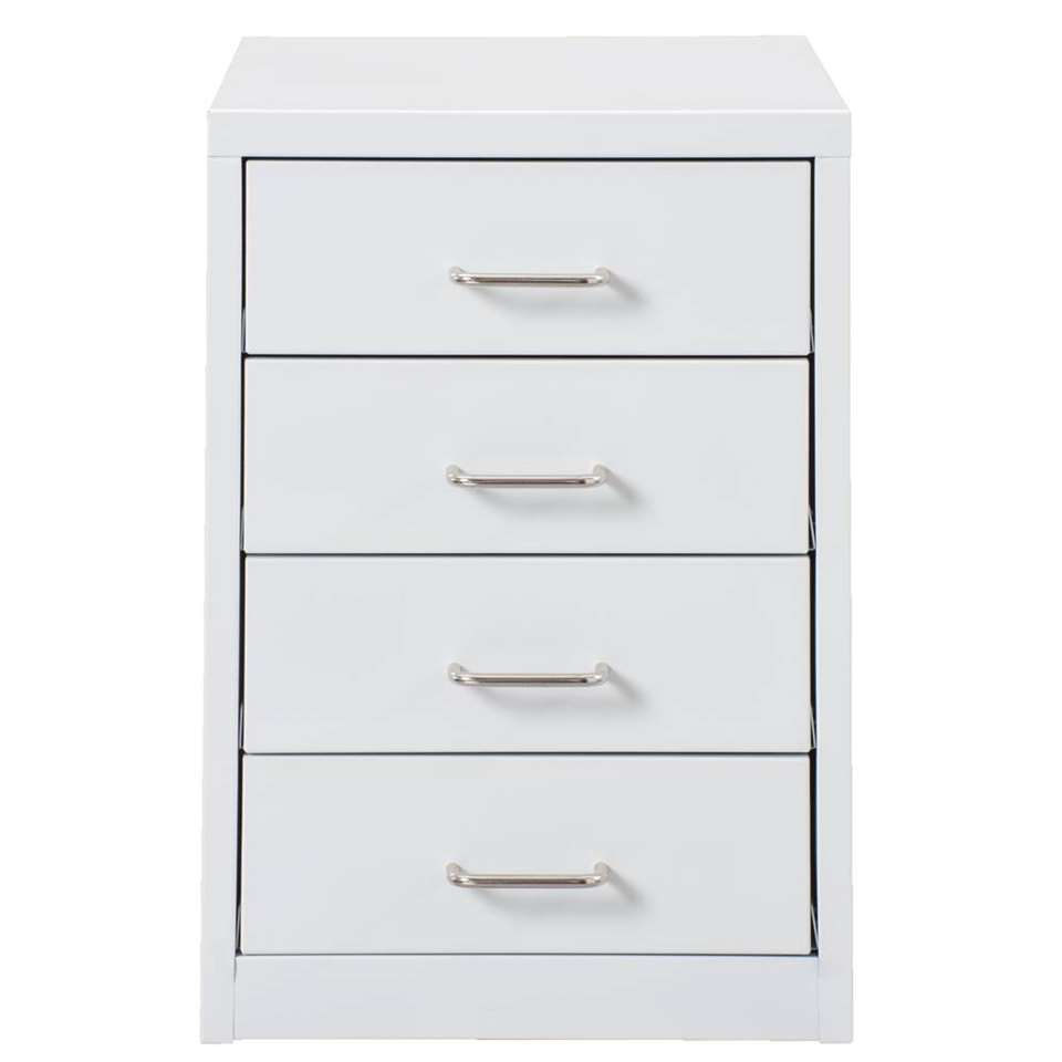 Ladekast Melody 4 lades – wit – 40x35x28 cm – Leen Bakker