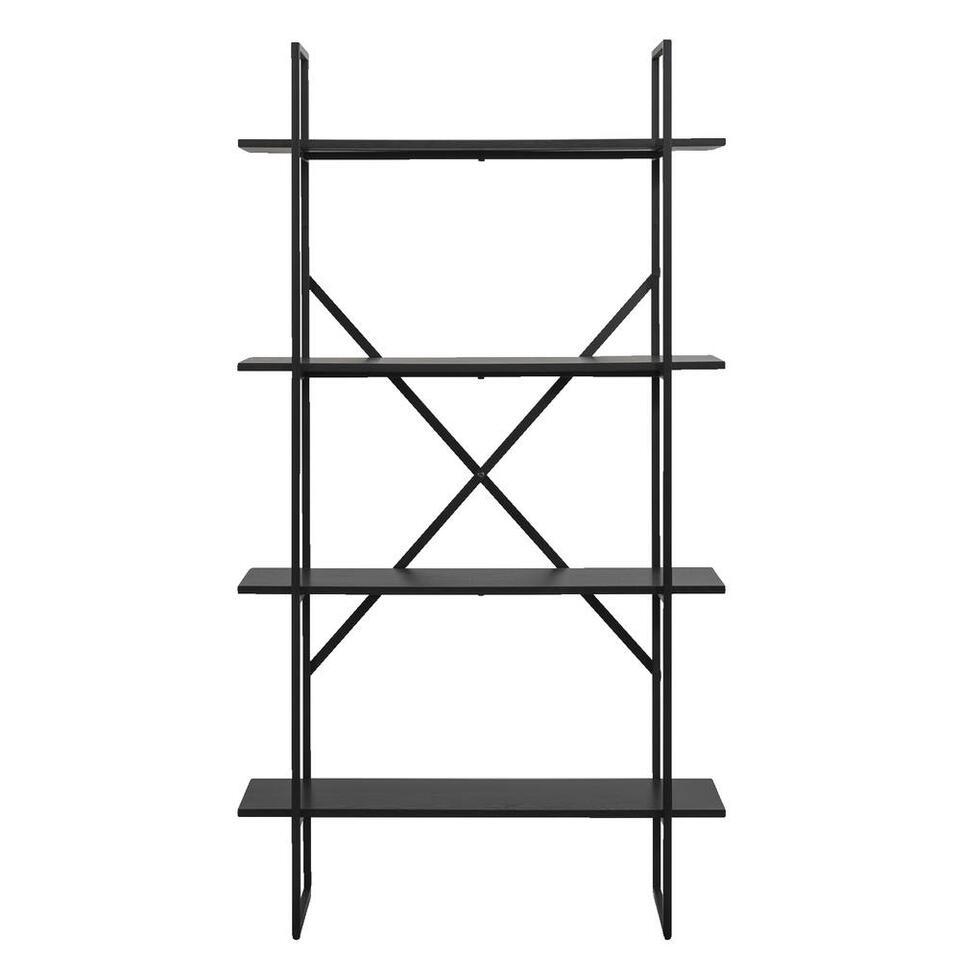 Wandmeubel Quebec - zwart - 165x90x35 cm - Leen Bakker
