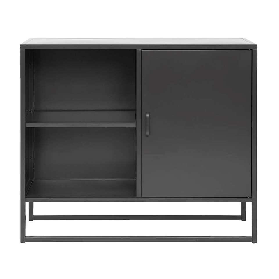 Dressoir Aalborg - noir - 85x100x35 cm