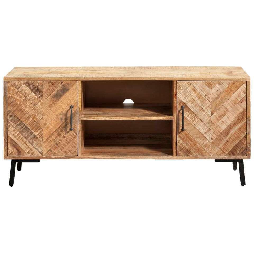 TV-dressoir Cas - naturel/zwart - 60x138x45 cm