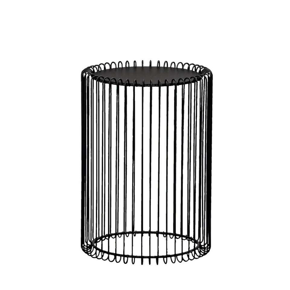Bijzettafel Bolzano - zwart - 40,5x28,5 cm - Leen Bakker