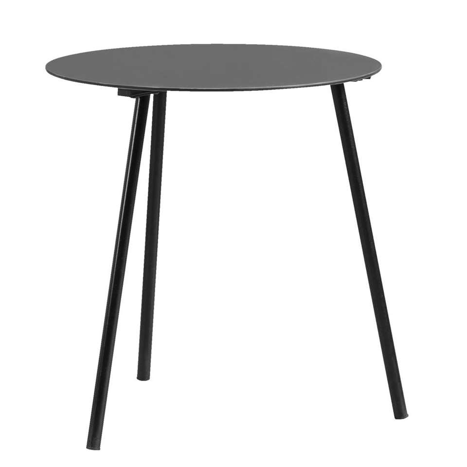 Bijzettafel Dalian – zwart – 47,5xØ45 cm – Leen Bakker