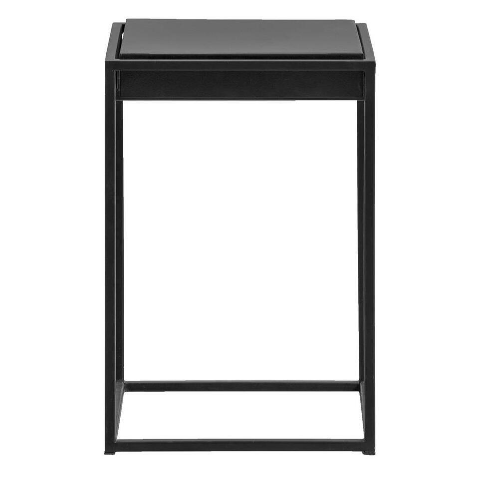 Bijzettafel Sheffield - mat zwart - 45x31x31cm - Leen Bakker