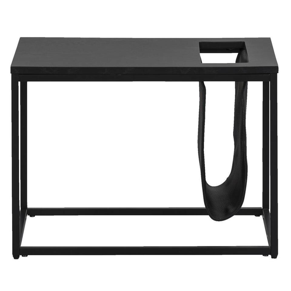 Bijzettafel Quebec - zwart - 40x55x40 cm - Leen Bakker