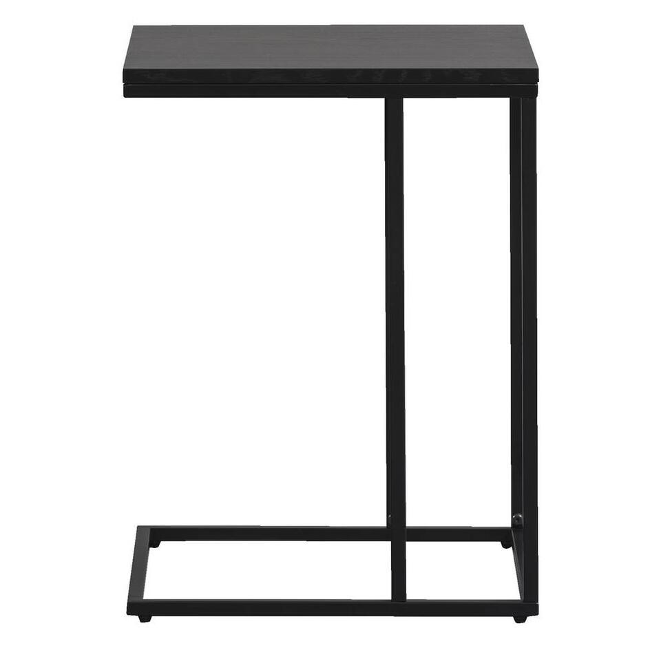 Bijzettafel Quebec - zwart - 58x43x38 cm - Leen Bakker
