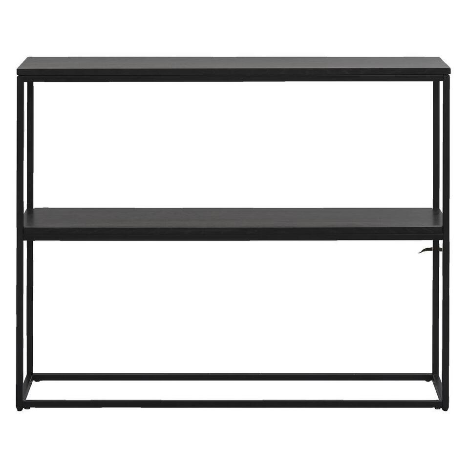 Sidetable Quebec - zwart - 79x100x30 cm