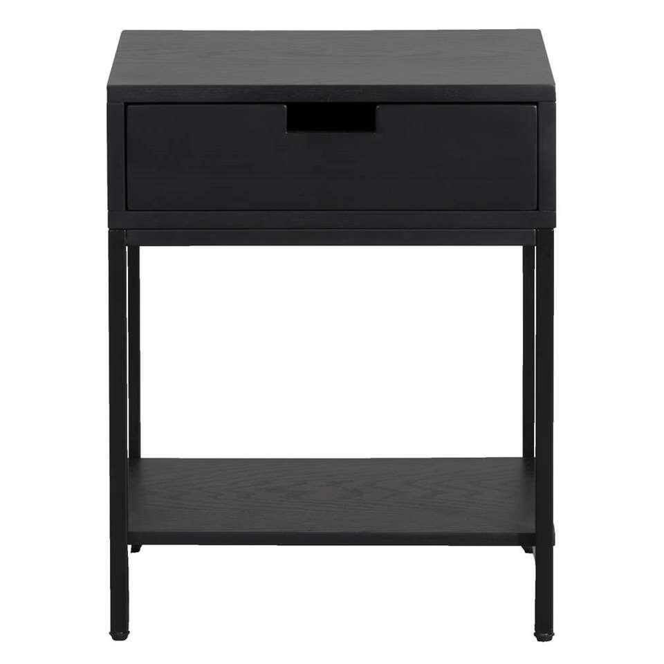 Wandtafel Quebec - zwart - 50x40x35 cm - Leen Bakker