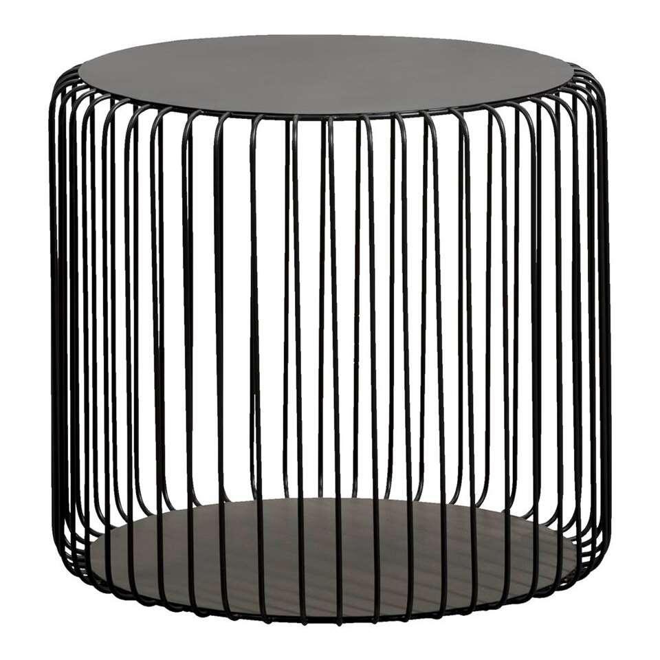 Bijzettafel Couperus - zwart - 45xØ50 cm - Leen Bakker