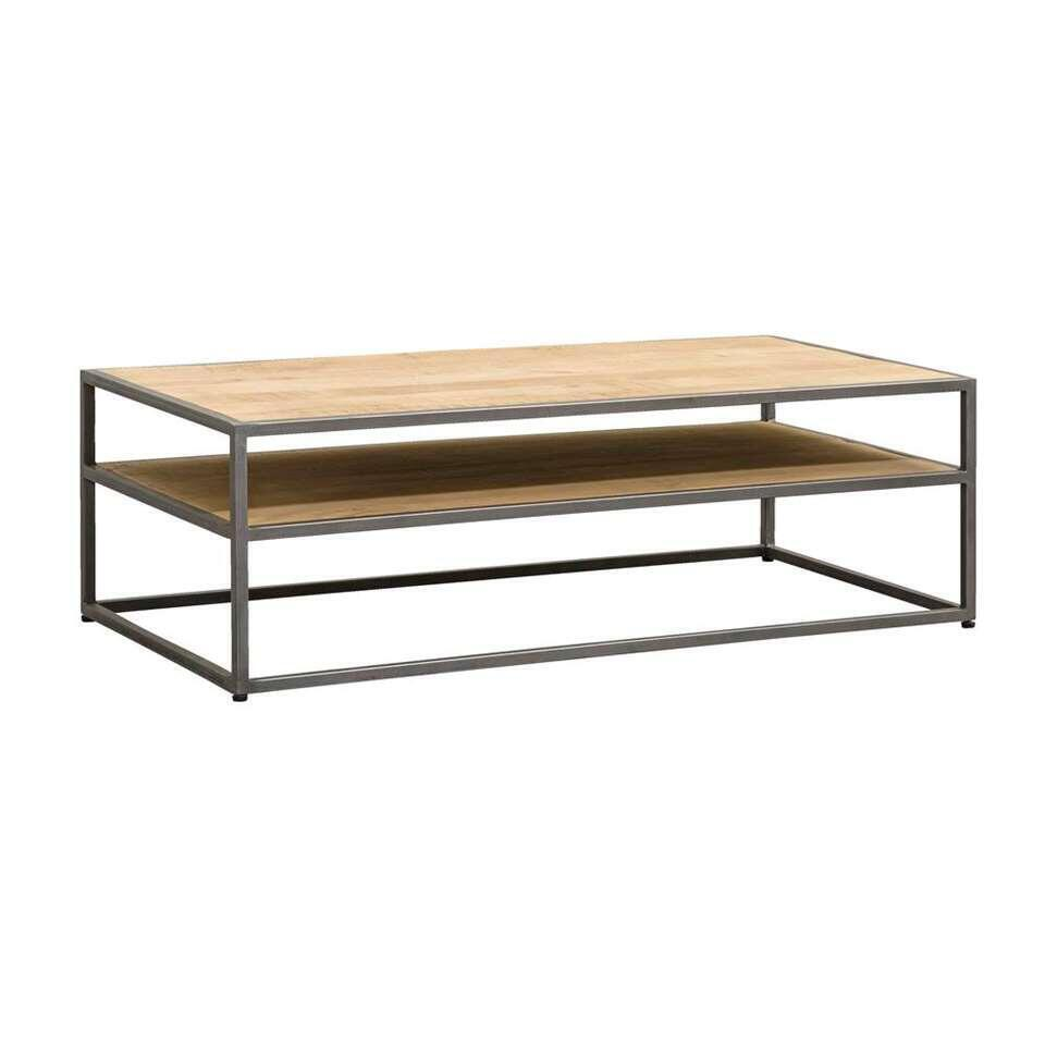Table basse Logan - couleur naturelle/grise - 40x125x65 cm