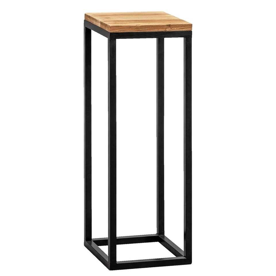 Plantentafel Gijs - naturel/zwart - 70x25x25 cm