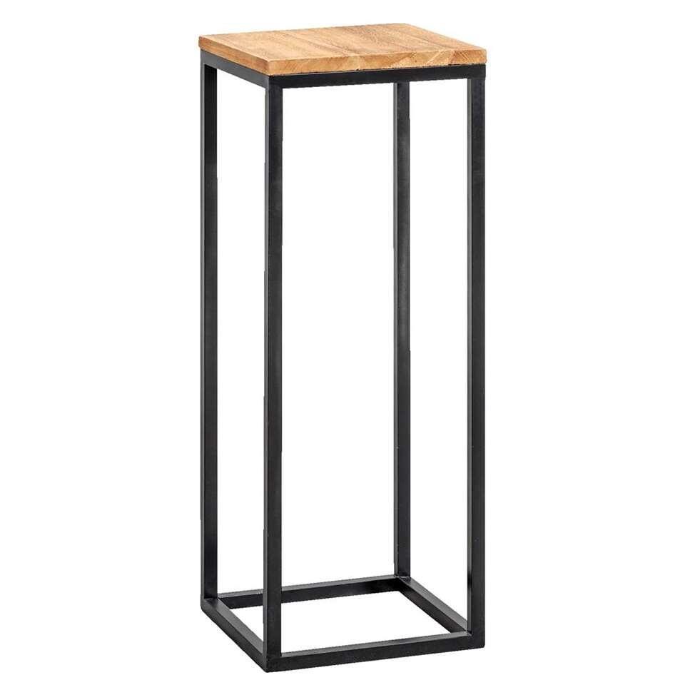 Plantentafel Gijs - naturel/zwart - 79x30x30 cm
