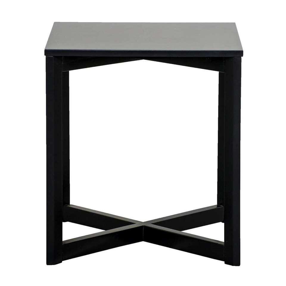 Bijzettafel Burgos - zwart - 50x45x45 cm - Leen Bakker