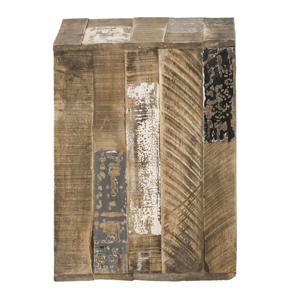 Kubus decoratief Roan – bruin – 45x35x35 cm – Leen Bakker