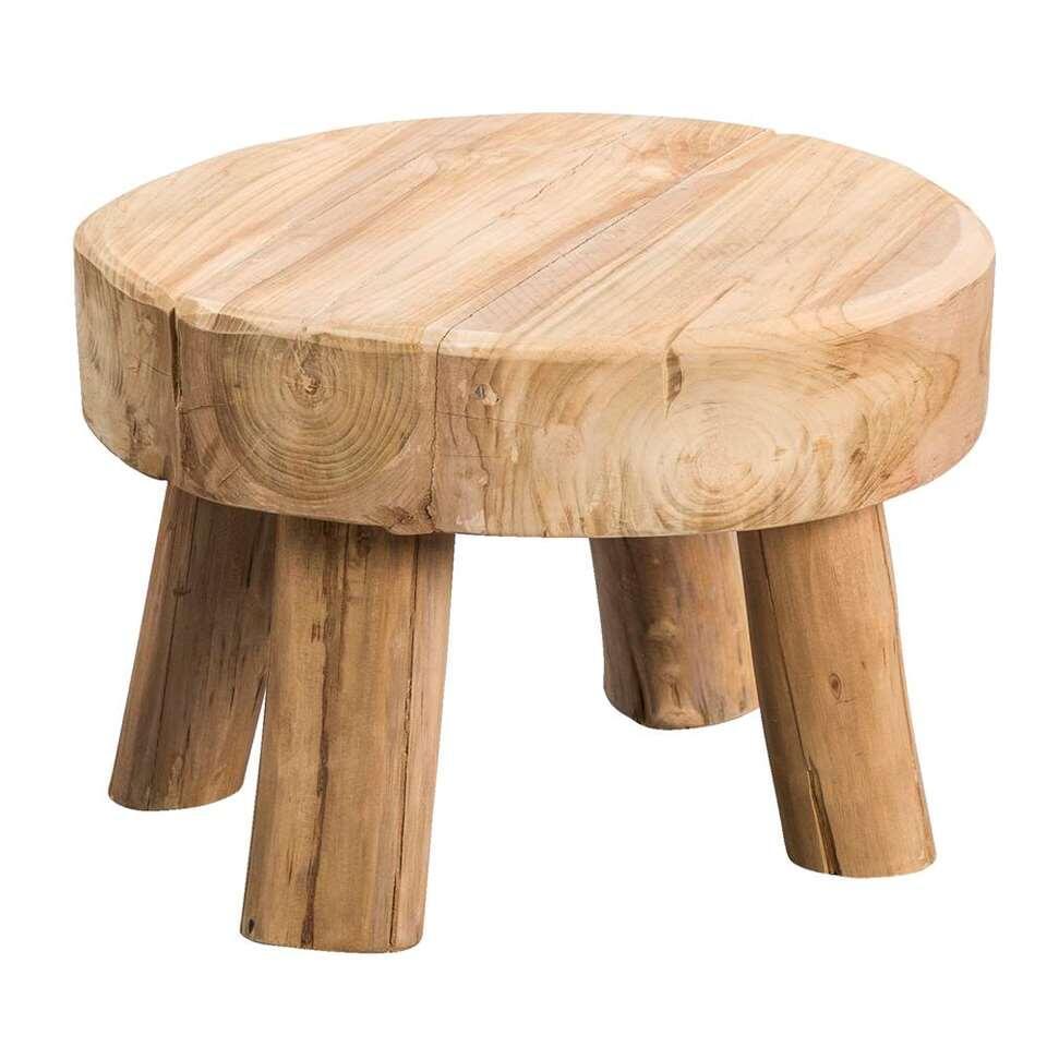 Bijzettafel Tjeu is zeer decoratief en zeer goed te gebruiken als een leuk en handig tafeltje. Dit veelzijdige meubel is gemaakt van teakhout.