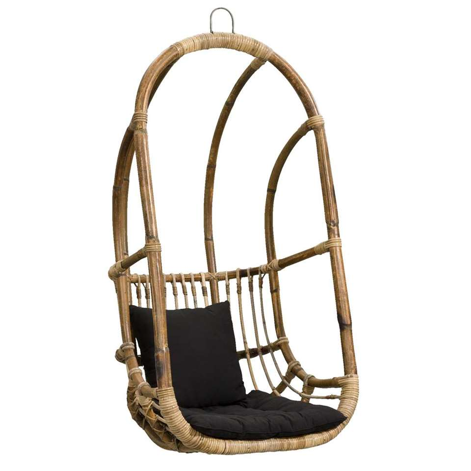 Witte Rieten Hangstoel.Hangstoel Hidde Antiekgrijs