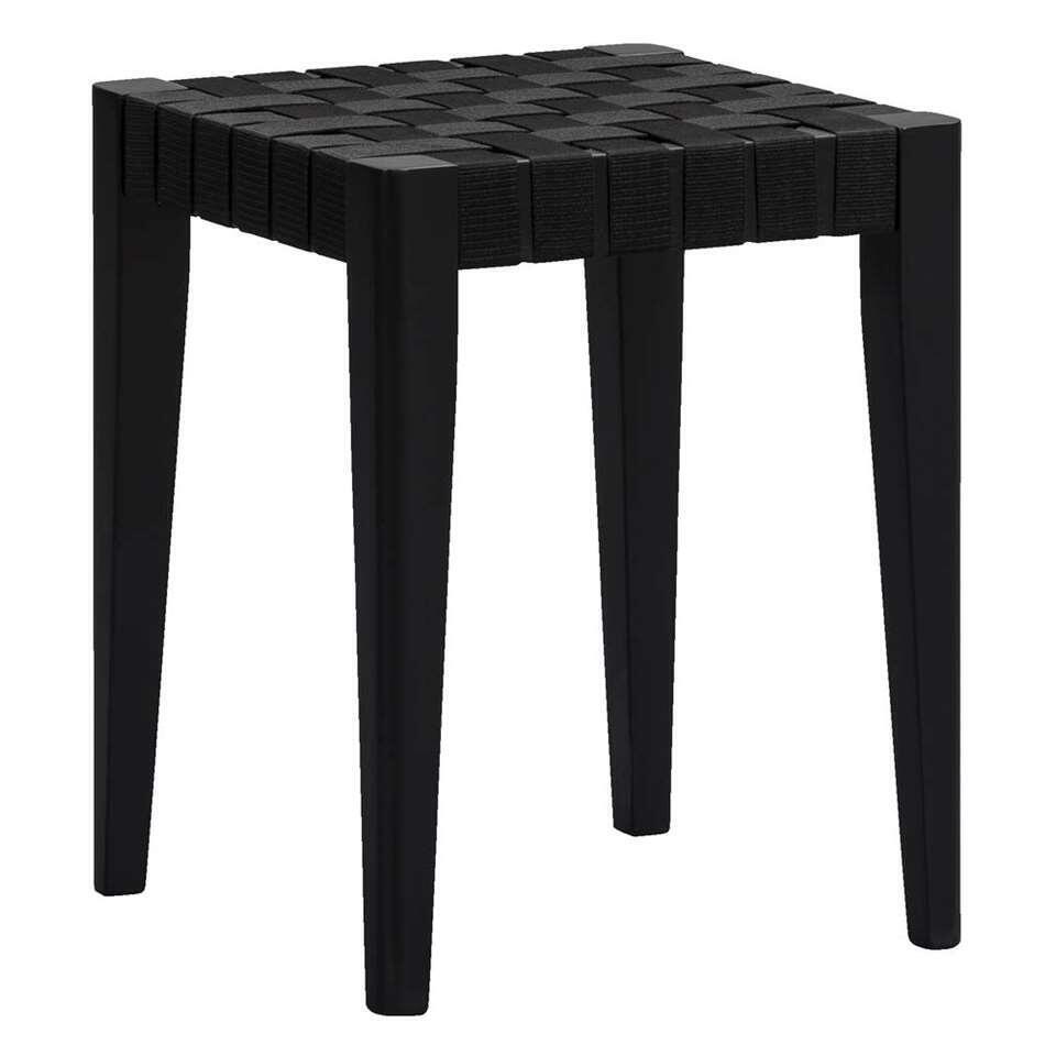 Kruk Ottawa – zwart – 45x36x36 cm – Leen Bakker