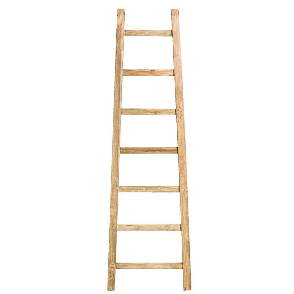 Ladder Finn – naturel teak – 180x54x4 cm – Leen Bakker