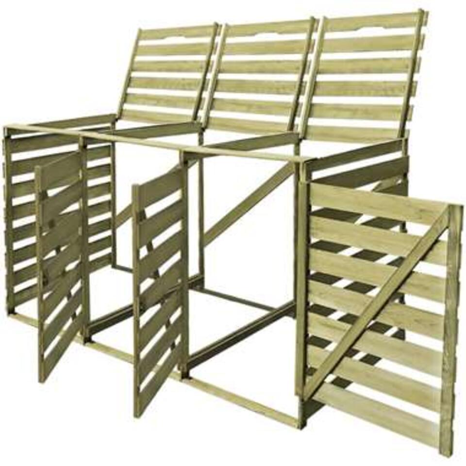 vidaXL Containerberging driedubbel 240 L gempregneerd hout