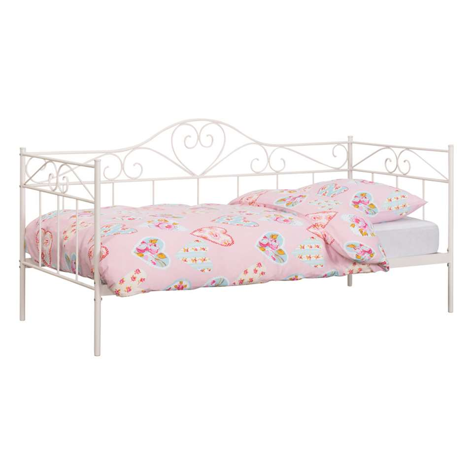 Meisjes Bed 90x200.Sofabed Valerie Wit 90x200 Cm