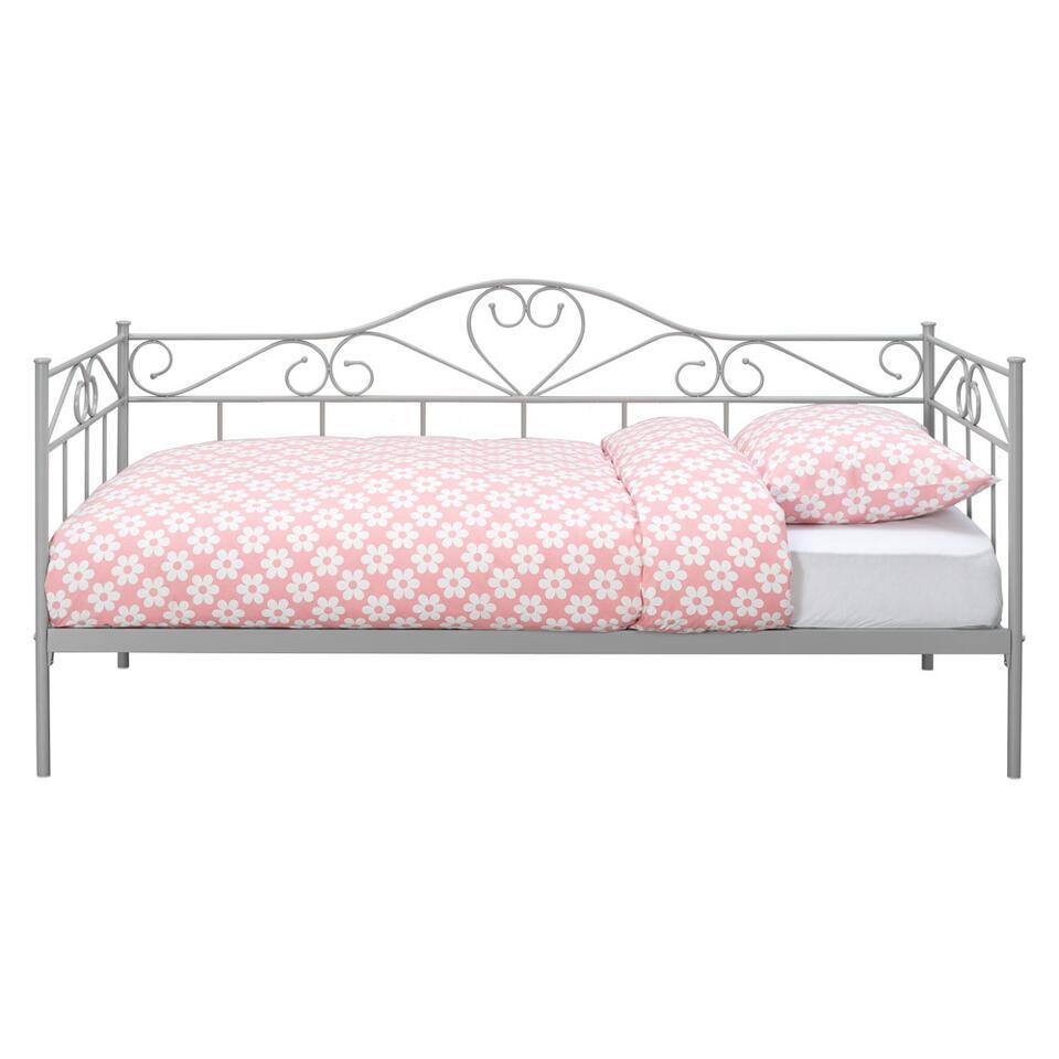 Sofabed Valerie - matgrijs - 90x200 cm - Leen Bakker