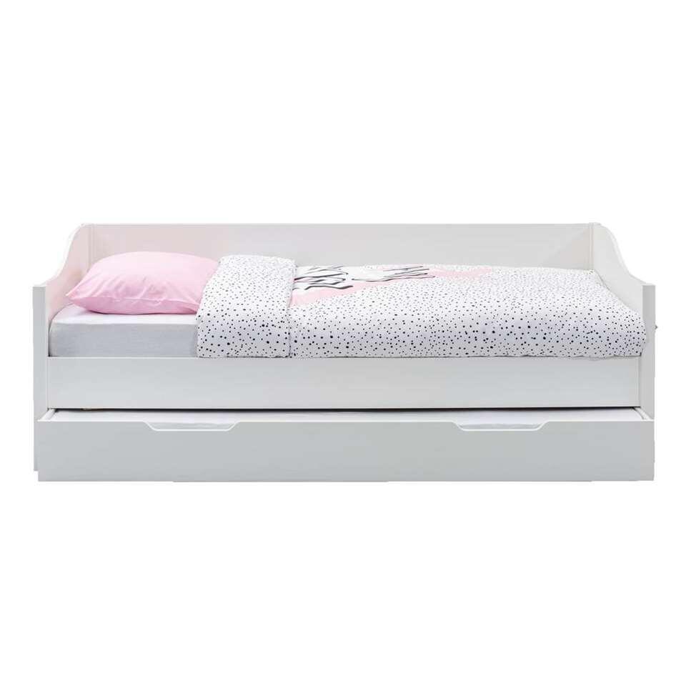 1 Persoons Bedbank.Bedbank Eliza Wit 90x200 Cm