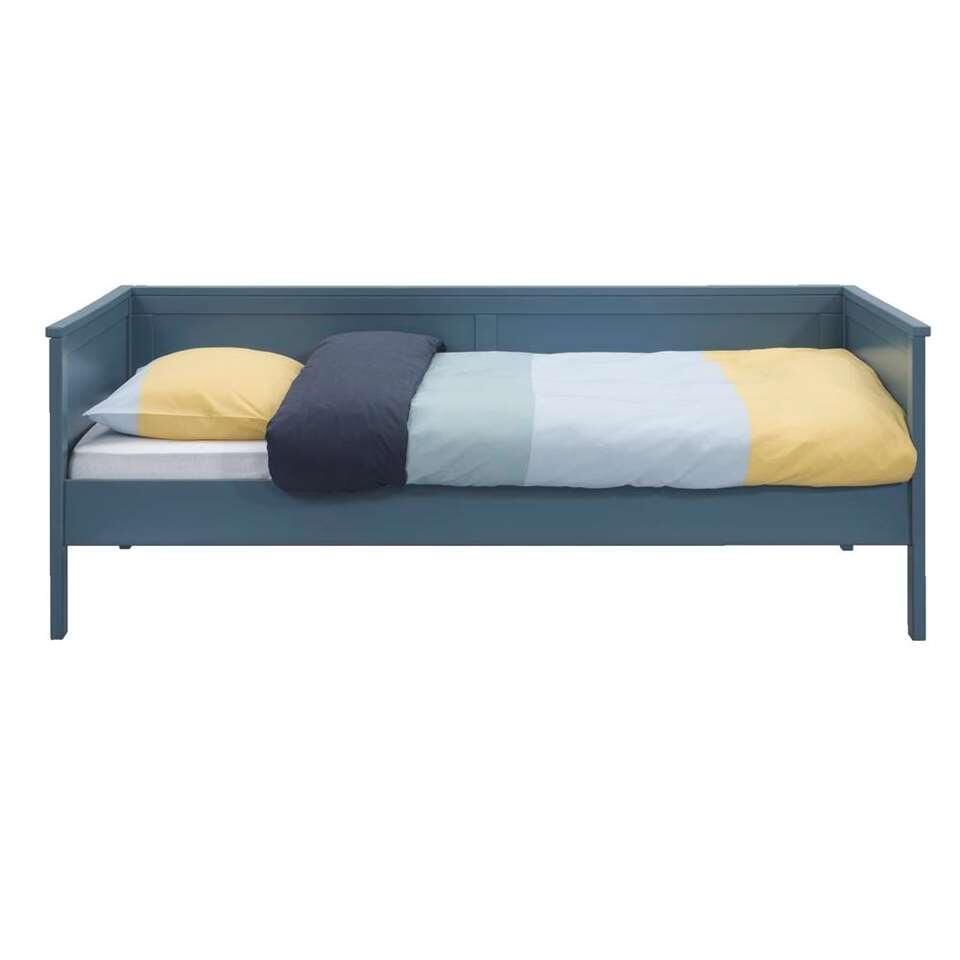 Bedbank Thomas (excl. bedlade) - steenblauw - 90x200 cm - Leen Bakker
