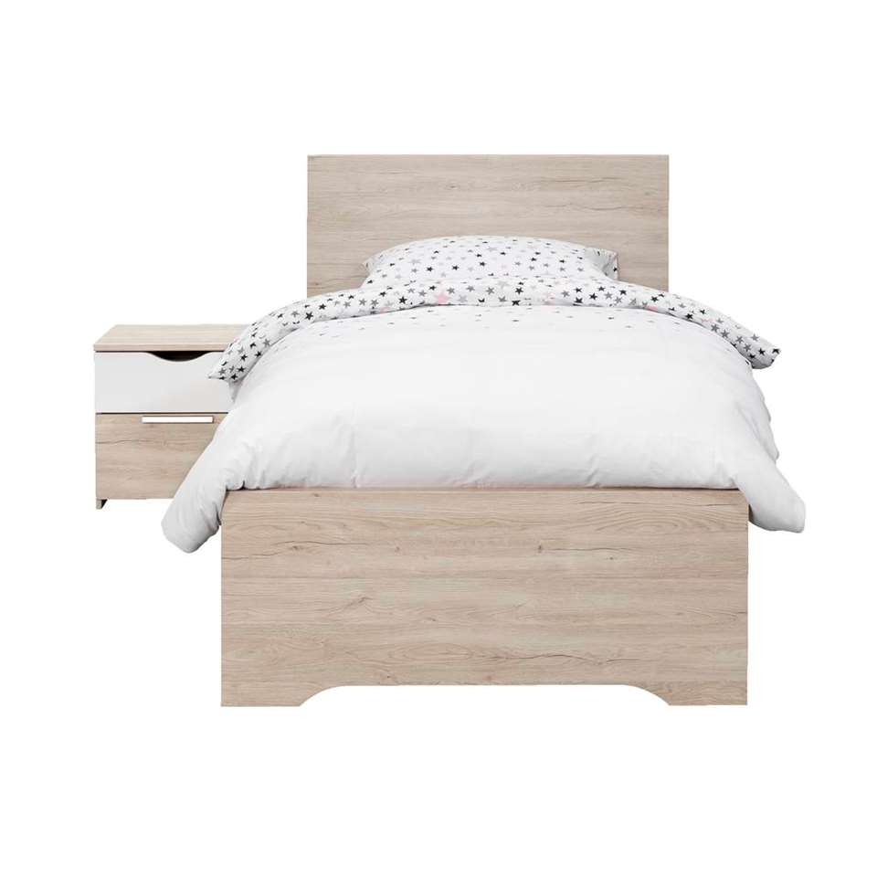 Bed Tempo - eikenkleur - 90x200 cm