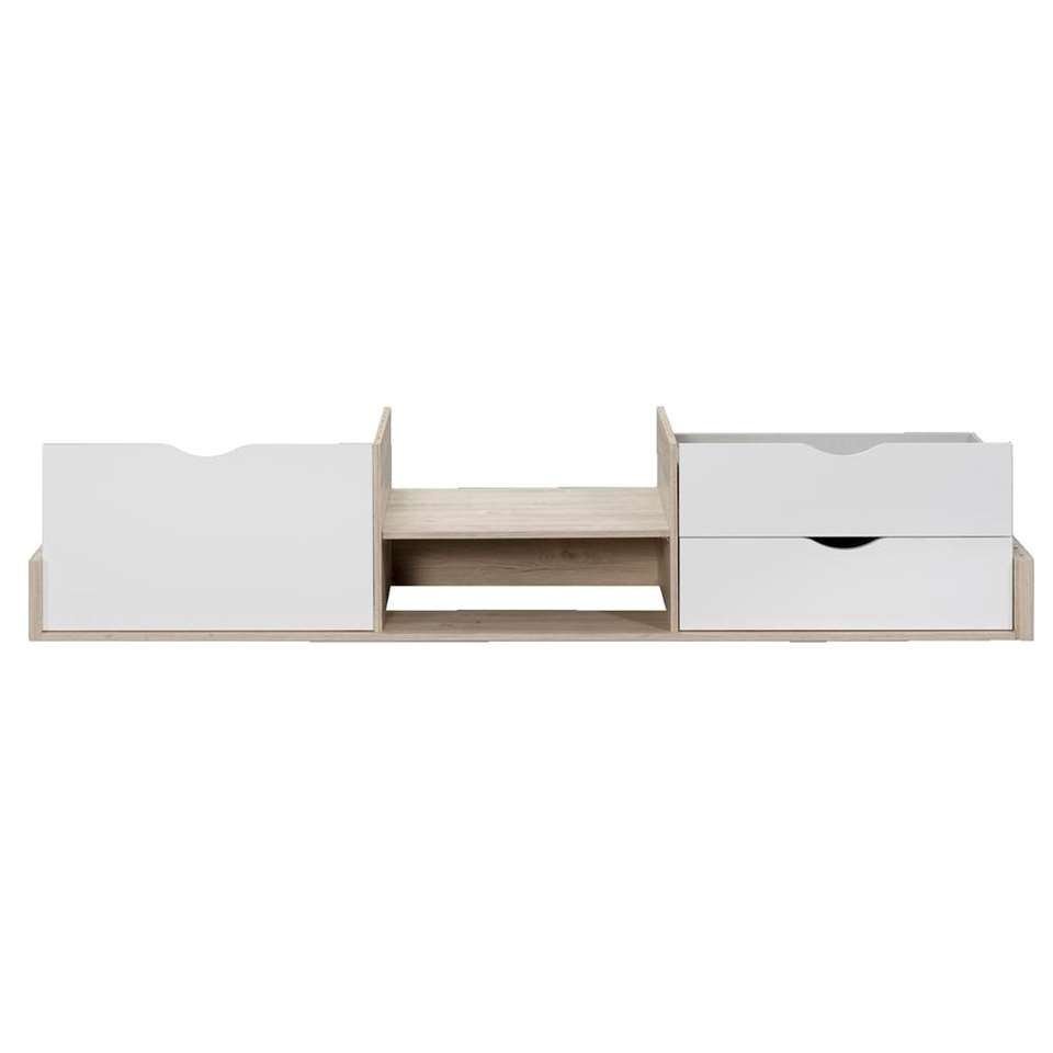 Bedverhoging Tempo - eikenkleur - 40x99x207 cm - Leen Bakker