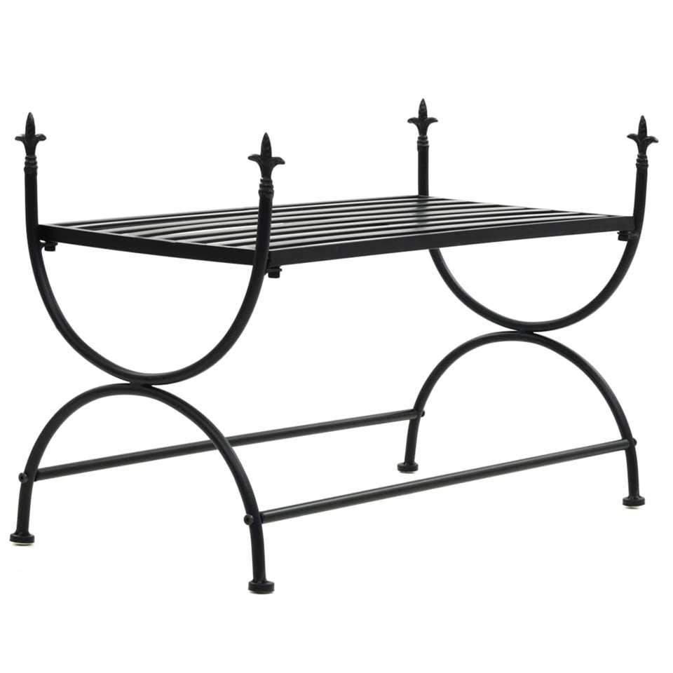 VIDAXL Bankje - vintage stijl - 83x42x55 cm - metaal - zwart