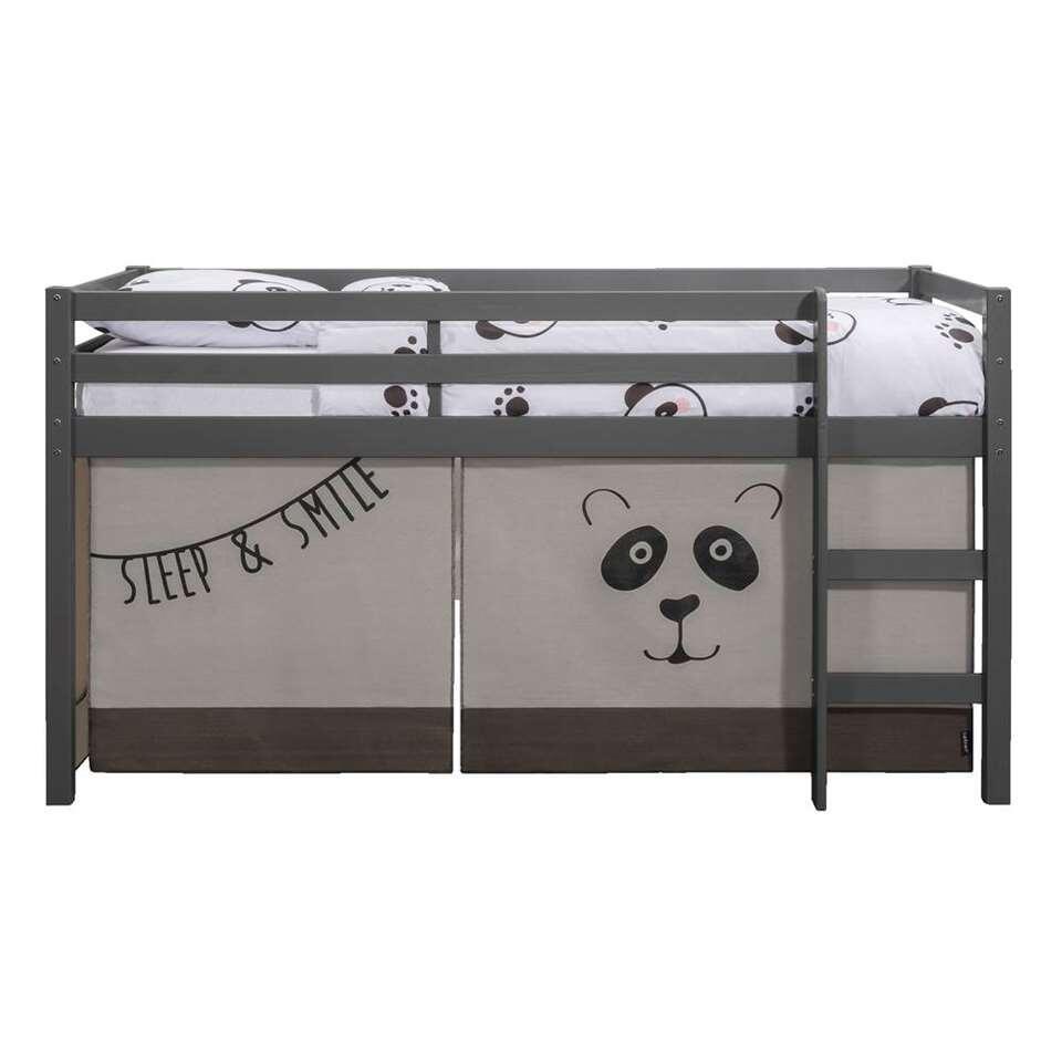 Bedtent Panda - grijs/antraciet - voor halfhoogslaper - Leen Bakker