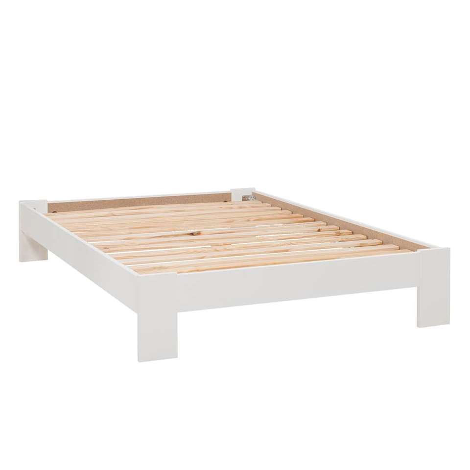Bed 140x200 Hout.Bed Sydney Wit 140x200 Cm