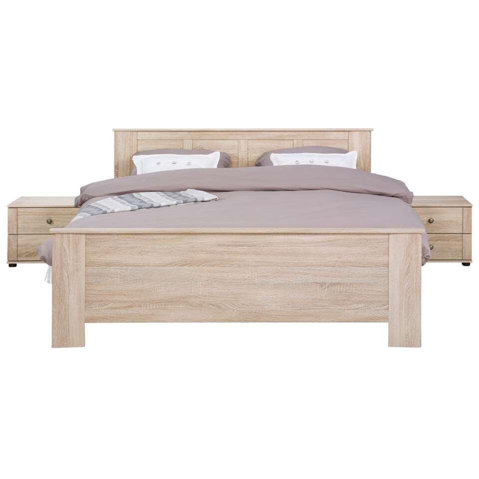 Bed Geneve - eikenkleur - 140x200 cm - Leen Bakker