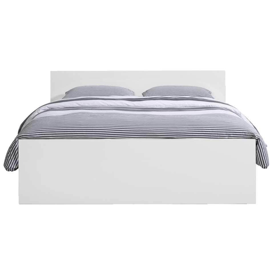 2 Persoonsbed 160x200.Bed Naia Hoogglans Wit 160x200 Cm