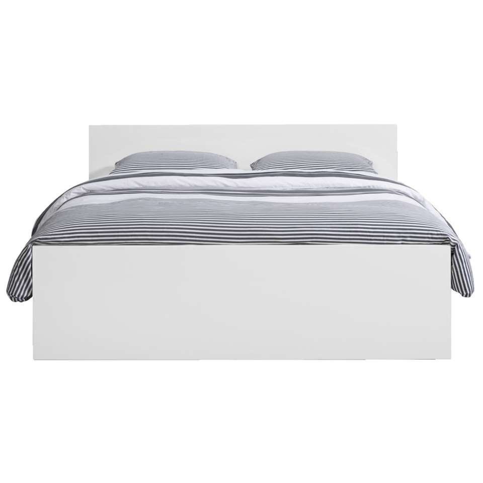 Bed Naia - hoogglans wit - 160x200 cm