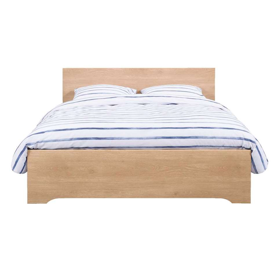 Bed Tempo - eikenkleur - 160x200 cm - Leen Bakker