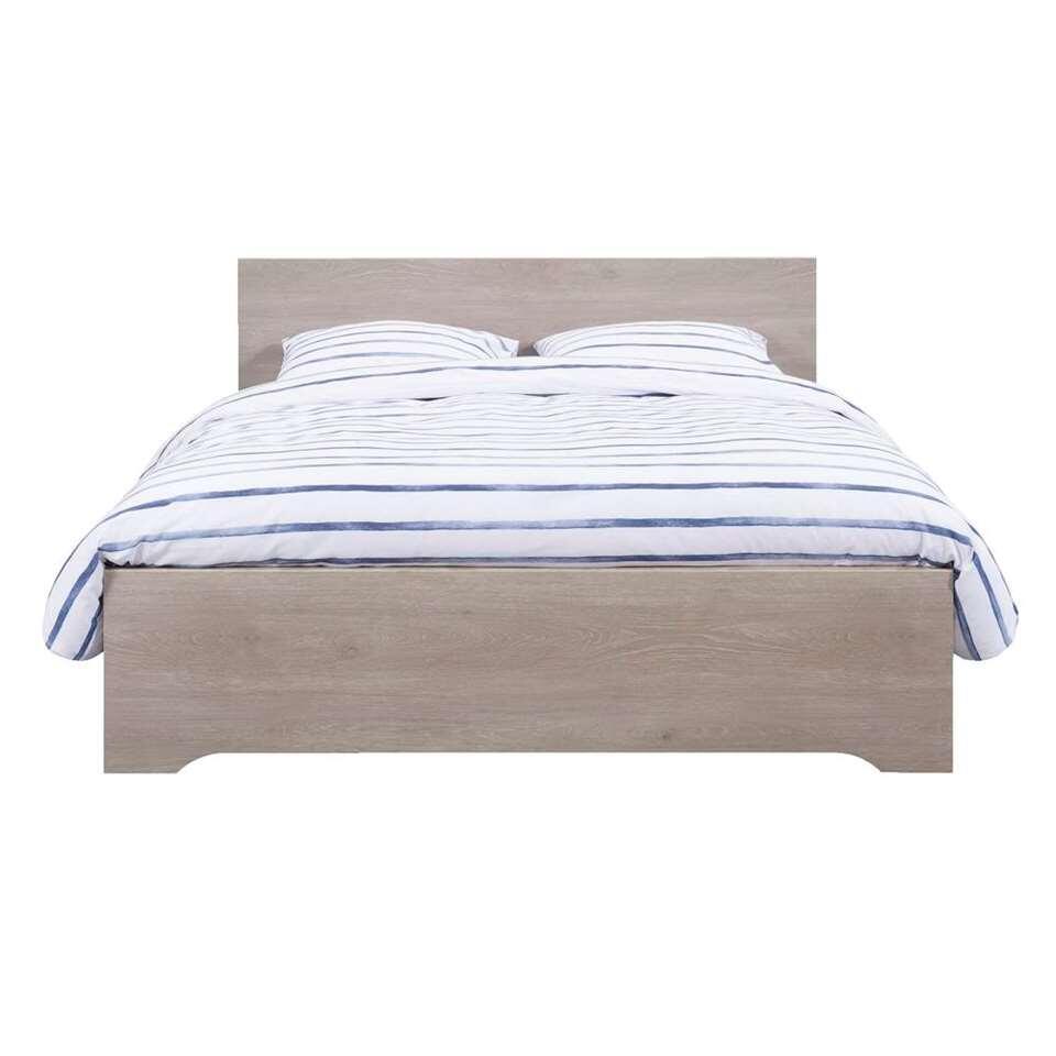Bed Tempo - grijs eikenkleur - 140x200 cm