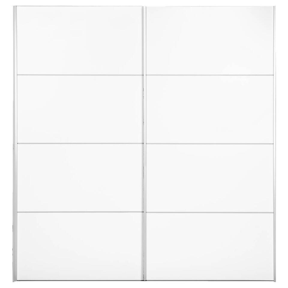 Schuifdeurkast Verona - wit - 200x182x64 cm - Leen Bakker